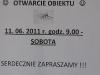 Basen Szczęśliwice - informacja o otwarciu -  czerwiec 2011